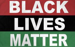 Black Lives Matter (BLM) Tricolor Flag