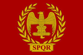 Roman Empire Eagle-SPQR Flag