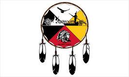 Mole Lake Band of Lake Superior Chippewa Flag