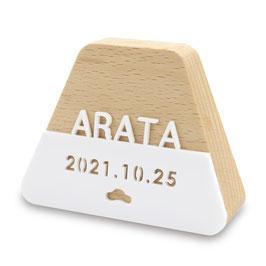 プーカのお名前札 もなか:富士 アクリル