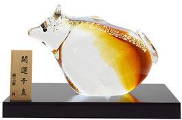 ガラス置物 干支「丑」SE-022