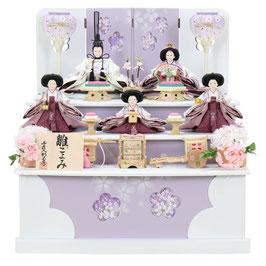 ひな人形「五人収納箱飾り」