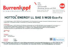 H.o.B-Hottol Energy LL SAE 5W/20 Eco-FO