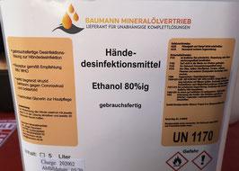 Hände-Desinfektionsmittel Ethanol 80%