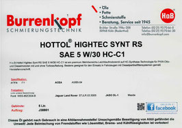 H.o.B-Hottol Hightec Synt RS SAE 5W/30 C-1