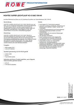Rowe Hightec Super Leichtlauf HC-O SAE 10W-40