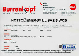 H.o.B-Hottol Energy LL SAE 5W/30
