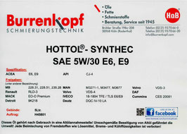 H.o.B-Hottol Synthec SAE 5W/30 E6, E9