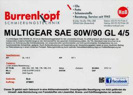 H.o.B-Multigear SAE 80W/90 GL 4/5