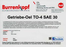 H.o.B-Getriebe-Oel TO-4 SAE 30