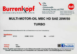 H.o.B-Multi-Motor-Oil MBC HD SAE 20W/50 TURBO