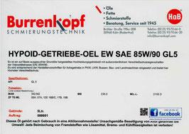 H.o.B-Hypoid-Getriebe-Oel EW SAE 85W/90 GL 5