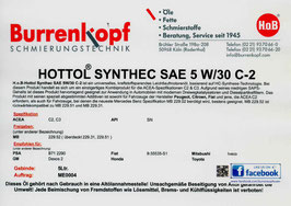 H.o.B-Hottol Synthec SAE 5W/30 C-2