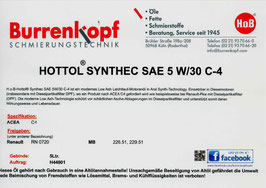 H.o.B-Hottol Synthec SAE 5W/30 C-4