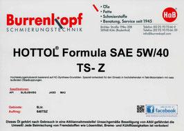 H.o.B-HOTTOL Formula SAE 5W/40 TS-Z