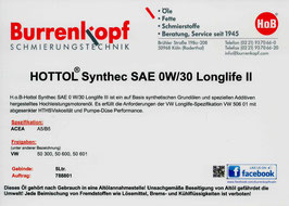 H.o.B-Hottol Synthec SAE 0W/30 Longlife 2