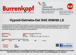 H.o.B-Hypoid-Getriebe-Oel SAE 80W/90 LS LS