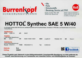 H.o.B-Hottol Synthec SAE 5W/40