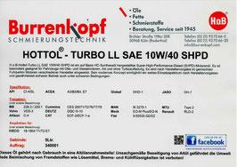 H.o.B-Hottol Turbo LL SAE 10W/40 SHPD