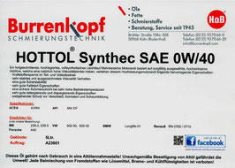 H.o.B-Hottol Synthec SAE 0W/40