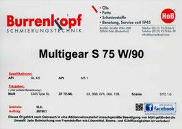 H.o.B-Multigear S 75W/90 GL 4/5