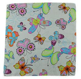 Einstecktuch Schmetterling Weiß
