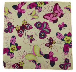Einstecktuch Schmetterling Creme