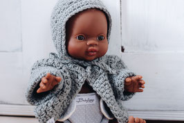 dolls jacket, bonnet and diaper
