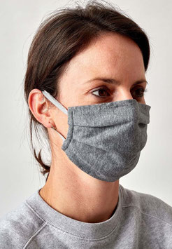 Huber Mund-Nasen Maske grau