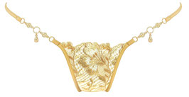 Lucky Cheeks Luxury String Gold Fever