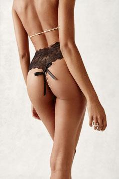 Bracli Geneva Panty Perlenstring in schwarz