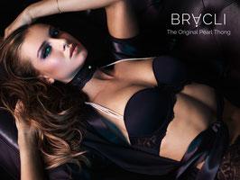 Bracli® Perlen BH Desire mit floraler Spitze in schwarz