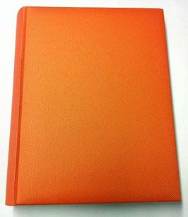 Album foto in ecopelle arancio effetto stoffa
