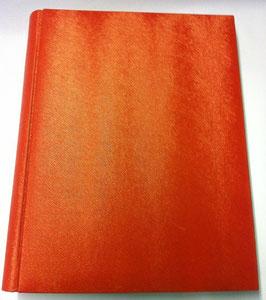Album foto in ecopelle arancio con un effetto ondulato