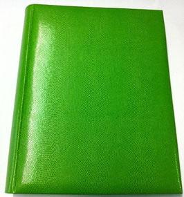 Album foto in ecopelle verde effetto lucertola