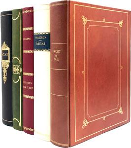 Cestino gettacarte finti libri in pelle