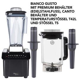 BIANCO GUSTO MIT 2 BEHÄLTERN (CANTO und PREMIUM) + 2 STAMPFERN