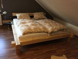 "Bett aus Altholz Balkenbett Massiv ""Rom"""
