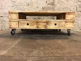 """Palettenmöbel Couchtisch Sideboard mit Rollen  """"Cesana"""""""