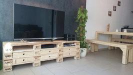 "Palettenmöbel TV/Hi Fi Bank Sideboard ""Savona"" XXL"