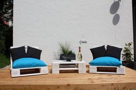 """Palettenmöbel Lounge """"Ventura"""" im Set Natur weiß"""