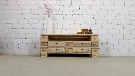 """Palettenmöbel Sideboard mit Schubladen Lowboard """"David"""" Natur geölt"""