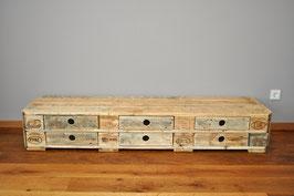 """Palettenmöbel Sideboard mit Schubladen Lowboard """"Dirk"""" Natur geölt"""