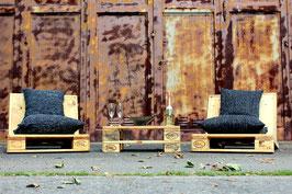 "Palettenmöbel Lounge ""Ventura"" im Set Natur geölt"