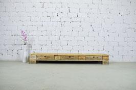 """Palettenmöbel Sideboard mit Schubladen Lowboard """"Delf"""" Natur geölt"""
