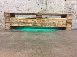 """Palettenmöbel Sideboard Lowboard TV Möbel mit LED Beleuchtung """"Aprilia"""""""
