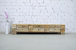 """Palettenmöbel Sideboard mit Schubladen Lowboard """"Dario"""" Natur geölt"""