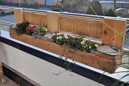 """Palettenmöbel """"City Garden XL"""" Blumenkasten aus Paletten"""