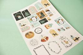 Geschenkanhänger Bogen Weihnachten