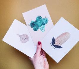 SET Postkarte GEMÜSE